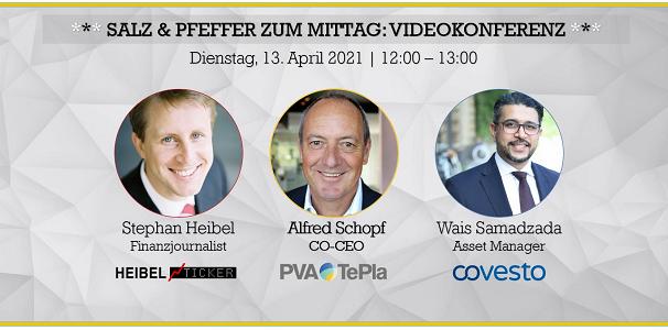 Salz &         Pfeffer zum Mittag mit Alfred Schopf, CEO von PVA TePla,         Produzent von Kristallen für die Halbleiterindustrie